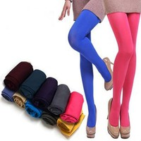 Solid Stretch Tights Spring Candy Color