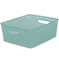 """Y-Weave 11"""" Cube - Turquoise - Room Essentials™"""