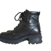 90s Black Boot Women Military Boot Lace Up Ankle Boot 90s Ankle Boot 90s Goth Boot 90s Grunge Boot Combat Boot Gothic Boot Chunky Heel Boot