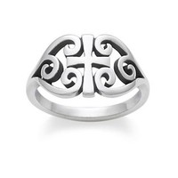 Scroll Cross Ring: James Avery