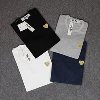 Couple Cotton Short Sleeve Casual T-shirts [10710158407]