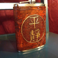 "Firefly ""Serenity"" Steampunk Leather 8oz Flask"