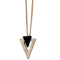 Gold-tone Triangle Necklace