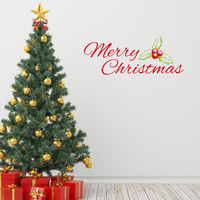 new christmas wall stickers home decorations Christmas present vinyl wall decals for bedroom xmas22