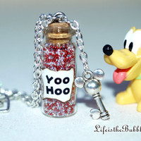 Minnie Mouse Magical Yoo Hoo Necklace with a Mouse Heart Key Charm, Disney Inspired, by Life is the Bubbles