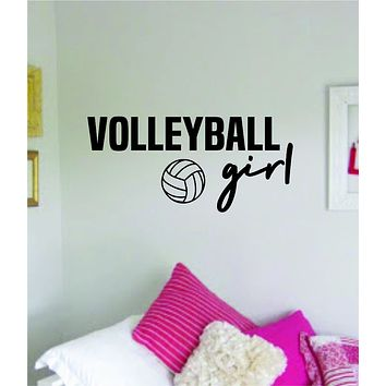 Volleyball Girl Wall Decal Sticker Vinyl Art Bedroom Room Home Decor Quote Ball Teen Baby Nursery School Fitness Inspirational Sports Beach