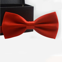 Men's Classic Adjustable Bow Tie - Red
