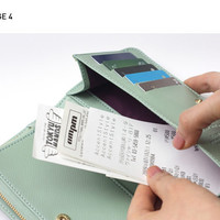 Monopoly Classy snap long wallet with Zip pocket