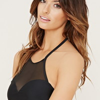 High-Neck Halter Bikini Top | Forever 21 - 2000168478