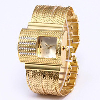 Rectangle Face Stainless Steel Watch