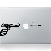 Gun  --- Mac Decal Macbook Stickers Macbook Decals Apple Decal for Macbook Pro / Macbook Air / iPad / iPad2 / The new iPad
