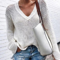 Explosion ladies V-neck sweater top