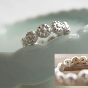 I Pick You Daisy Ring, Sterling Silver Daisy Ring, Stacking Rings