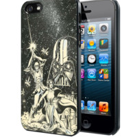 Old Star Wars Black and White Samsung Galaxy S3 S4 S5 Note 3 , iPhone 4 5 5c 6 Plus , iPod 4 5 case
