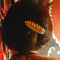 Greek Goddess Brass Hair Clip