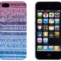 Aztec Pattern Embossed Slim Fit Hard Case for Apple iPhone 5S / 5 (AT&T, Verizon, Sprint, International) - Includes DandyCase Keychain Screen Cleaner [Retail Packaging by DandyCase]