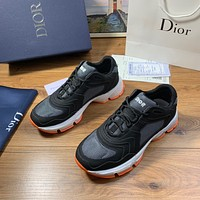 Dior Men's Leather Fashion Low Top Sneakers Shoes