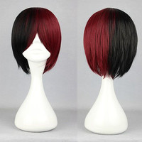 32cm Color Mixed MSN Lolita Wig Anime Cosplay Wig synthetic short wig,Colorful Candy Colored synthetic Hair Extension Hair piece 1pcs WIG-318A