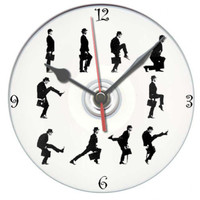 Monty Python silly walk dvd clock gift personalised free with display stand