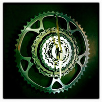 Bike Gear Wall Clock Bicycle Gear Clock Cyclist Clock Cycling Wall Clock Recycled Bike Parts Clock What To Make Out Of Old Bike Parts