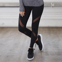 Day-First™ Women's Fashion Hot Sale Plus Size Hollow Out Yoga Sports Leggings