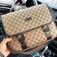 GUCCI New fashion more letter leather couple shoulder bag