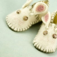 Soft Bunny Rabbit Slippers for Babies and by rusticpatriotgirl