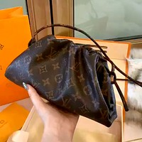 LV 2020 New Women's Trendy Fashion Mini Cloud Drawstring Shoulder Messenger Bag