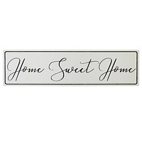 "Black & White ""Home Sweet Home"" Wall Decor"