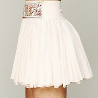Free People  Embellished Mini Skirt at Free People Clothing Boutique