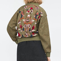 EMBROIDERY AND SEQUINS JACKET
