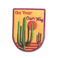 Go Your Own Way Homemade Iron-on Patch