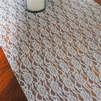 Lace Ribbon with Glitters, 19-inch, 5-yard, White