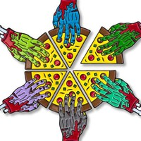 Share-A-Slice Zombie Hand Pizza Pin Set (Limited Edition)
