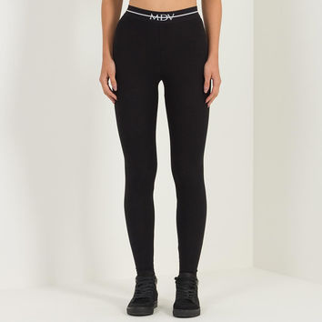 MDV Banded Ribbed Legging - Black