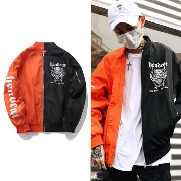 Patchwork Windbreaker Winter Fashion Strong Character Couple Tops Jacket [272619405341]
