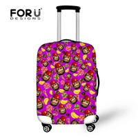 Cute mini monkey stretch elastic travel luggage protective cover suitcase 18-30 inch case dust luggage cover for maleta viaje