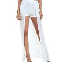 Sale-ivory Shes Fierce Maxi Hot Shorts