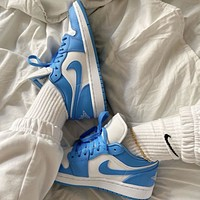 Air jordan 1 aj1 hot sale men and women low cut color matching casual shoes sneakers