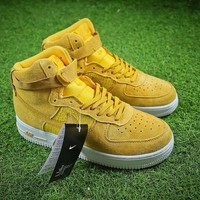 Nike Air Force 1 High AF1 Yellow White Shoes - Sale