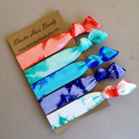 The Ariel Tie Dye Hair Tie Ponytail Holders Collection