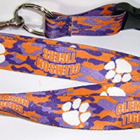 NCAA Clemson Tigers Officially Licensed Team Color Camo Camouflage Lanyard