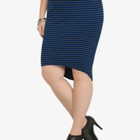 Hi-lo Striped Skirt