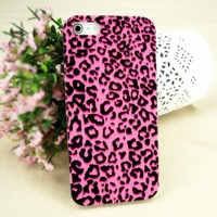 Ice-Bingo Printed Case for iPhone 5: Sexy Leopard Print (Pink)