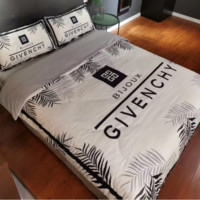 Comfortable GIVENCHY Leaves 4 PC Bedding Set Conditioning Throw Blanket Quilt For Bedroom Living Rooms Sofa