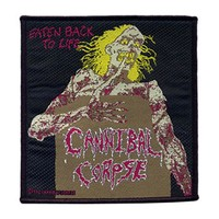 Cannibal Corpse Men's Eaten Back To Life Woven Patch Black