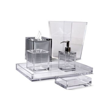 Ice Clear Lucite Bath Accessories by Mike + Ally