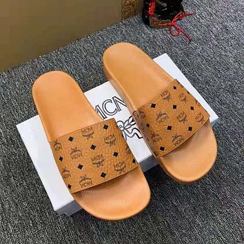 MCM men and women all-match casual sandals and slippers shoes