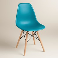 Pagoda Blue Evie Molded Dining Chairs, Set of 2