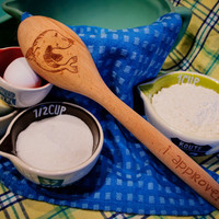 Seal of Approval-I approve! Engraved wooden Spoon  Beech Wood Personalized Gifts - Housewarming-Wedding Gifts - Holiday Kitchen Ideas